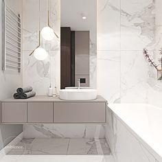 Mieszkanie łączące klasykę z nowoczesnością - Ambience. Bad Inspiration, Bathroom Inspiration, Small Bathroom, Master Bathroom, Bathroom Lamps, Bathroom Design Luxury, Bathroom Pictures, Bathroom Renovations, Home