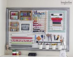 Extra large pegboard for sewing tools. Make it easier ... | Craft ro…