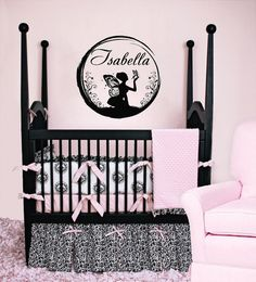 Housewares Girl Nursery Room Personalized Name Fairy Sitting into the Ball Wall Vinyl Decal Sticker Kids Nursery Baby Room Decor V328 on Etsy, $32.83 CAD