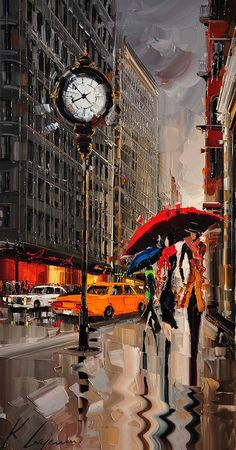 Kal Gajoum - Cityscapes Paintings by Kal Gajoum <3 <3