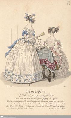 """Modekupfer aus """"Petit Courrier des Dames"""" von 1836"""