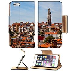 MSD Premium Apple iPhone 6 Plus iPhone 6S Plus Flip Pu Leather Wallet Case iPhone6 hill with old town of Porto at sunset close up Portugal Image ID 23795437 >>> See this great product.
