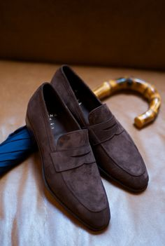 ethandesu:  Carmina MTO The Simpson Last Penny Loafer in Marron Suede Carmina at The Armoury