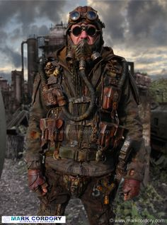 Post Apocalypse Mad Max style LARP costume. Mark Cordory Creations. www.markcordory.com