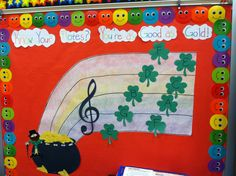 A music bulletin board for the month of March. It was my first bulletin board and I was very proud of it.
