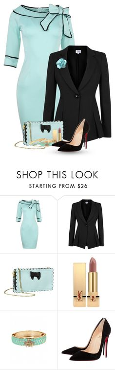 """""""Retro 50's"""" by flowerchild805 ❤ liked on Polyvore featuring Armani Collezioni, Betsey Johnson, Yves Saint Laurent, Fornash, Christian Louboutin and Kate Spade"""