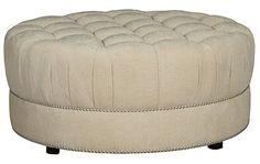 ART Furniture - Cotswold Amanda Ivory Round Cocktail Ottoman - 204504-5008