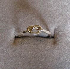 Sterling Silver Love Knot Ring Made in Sizes 3 to  by frankringman, $11.00