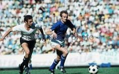 Italy 0 Uruguay 0 in 1970 in Puebla. Sandro Mazzola makes a run through the middle in Group 2 at the World Cup Finals.