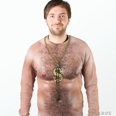 70s Hairy Chest Sweater - oh so wrong!!  #sweater #jumper #HairyChest