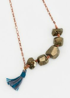 Best Valentine's Day Gifts Under $100: Ariana Ost Faceted Pyrite Necklace, $58