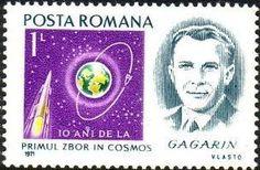 Znaczek: J. Gagarin, astronaut (Rumunia) (Personalities) Mi:RO 3003,Yt:RO 2665,Rom:RO 783c