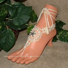 #Beaded Barefoot Sandals Foot Anklet Jewelry #Beach Wedding #Pearl Shoes Footless Sandal #Womens Shoe Accessories  Item #1605 Beaded Starfish Barefoot Sandals  * You will recei... #etsy #beaded #womens #accessories #pearl #beach #crochet