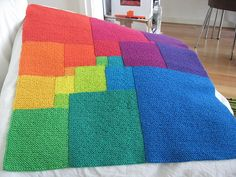 Ravelry: Square Deal pattern by Woolly Thoughts Crochet Quilt, Crochet Blanket Patterns, Knitting Patterns Free, Knit Crochet, Knitted Afghans, Knitted Blankets, Loom Knitting, Baby Knitting, Knitting Projects