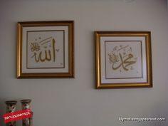 ELİŞİ TABLO ''ALLAH-MUHAMMED''