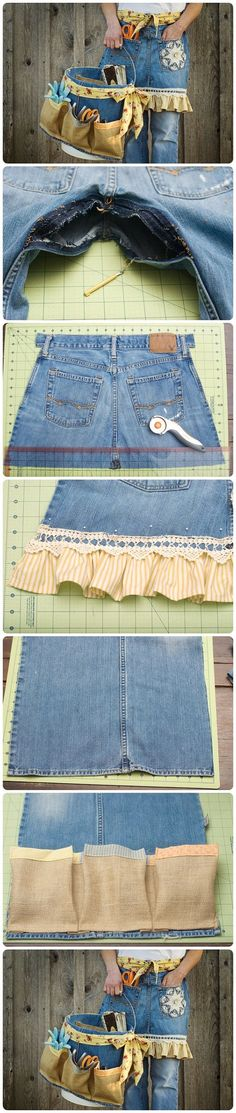DIY Denim Apron and Basket From Old Jeans 2019 DIY Denim Apron and Basket From Old Jeans The post DIY Denim Apron and Basket From Old Jeans 2019 appeared first on Denim Diy. Sewing Aprons, Sewing Clothes, Diy Clothes, Denim Aprons, Jean Crafts, Denim Crafts, Artisanats Denim, Denim Purse, Jean Apron