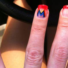 Go Miami Marlins Pro Baseball, Baseball Socks, Manicure And Pedicure, Manicure Ideas, Nail Ideas, Marlins Baseball, Love My Sister, Miami Marlins, Sporty Girls