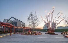 Pomegranate Inspired Community Social Plaza by ASPECT Studios -