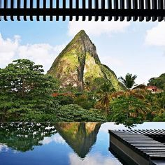 Morning mountain views at Hotel Chocolat St. Lucia #Caribbean