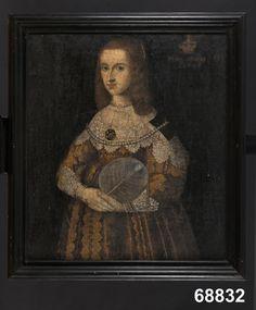 1643 Queen Kristina of Sweden, unknown artist, NM.0068832 Nordiska museet