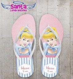 Chinelo Infantil Cinderela Personalizado - COD 2248 - comprar online