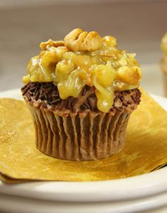 German Chocolate Cupcakes by The Kitchen is My Playground