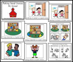 FREE Making Good Choices at school book and pocket chart sort