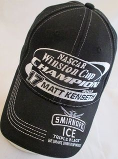 Matt Kenseth #17 Baseball Hat Cap Roush Racing 2003 Winston Cup Champion Nascar #TeamCaliber #RoushRacing