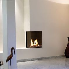 Small Corner Gas Fireplace                                                                                                                                                      More
