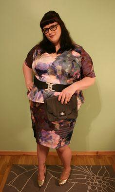 Anna Scholz Print Peplum Dress worn by Girl Geek in a Dress