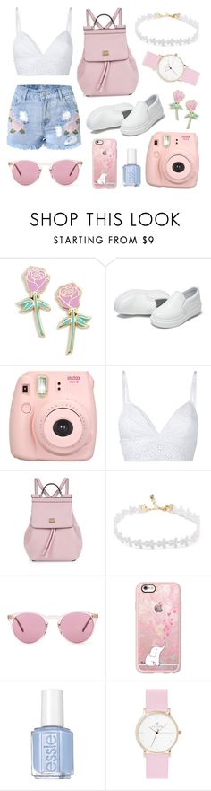"""""""Untitled #16"""" by alexmoore55 ❤ liked on Polyvore featuring Big Bud Press, philosophy, Dolce&Gabbana, Oliver Peoples, Casetify and Essie"""