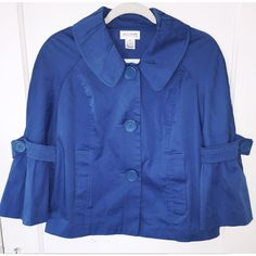 Ruffle Sleeve, Button Downs, Style Fashion, Classy, Blazer, Coat, Women, Sewing Coat, Chic
