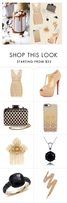"""Вот.."" by lizoshek-krasotka on Polyvore featuring мода, Nicole Miller, Christian Louboutin, Tevolio, Casetify, Miriam Haskell, Pomellato и Urban Decay"