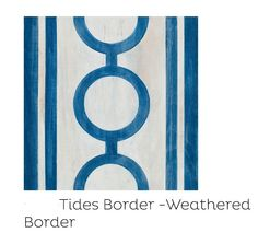 "We designed this border with the beach house in mind. It's weathered with rich patina and reminds us of summer, warmth, and freedom. Borders Collection- ""Tides Border-Weathered"" as Corner, Border , and Tiled as Border (Mirth Studio, Colorful Patterned Hardwood Floor Tiles) #Hardwoodfloors #Colorfulfloors #paintedfloors #Mirthstudio #Sallybennett #Borders #blueandwhite #colorful #patterned #patternedfloors #weatheredwood #homedesign #weathered #Tidesborder #colorfulhardwoodfloors"