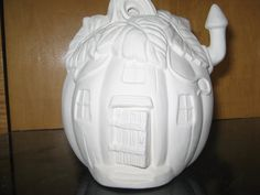 Ceramic Bisque Small Pumpkin House Ready To Paint U Paint