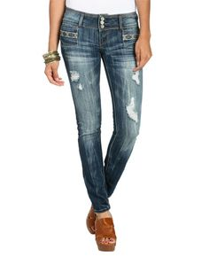 Tribal Embroidered Skinny Jean from WetSeal.com