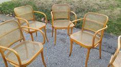 Four-Ligna-Czechoslovakia-Thonet-Bentwood-Prague-Chairs