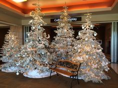Winter Wonderland decorations in the hotel lobby at TSR
