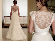 """5 wedding dresses with lace back """"Constance Zahn - Wedding Blog for brides tuned."""