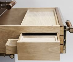 Secret Drawers in a Linley Desk. I find this incredible, love the dovetails on even the tiny drawer.