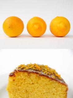 pedra do lar: bolo de limão com calda
