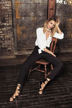 Anja Rubik Models Her New Clothing Collaboration in ELLE Spain July 2016