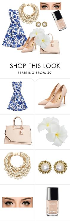 """Fancy"" by ashleykatee26 on Polyvore featuring Rupert Sanderson, GUESS, Kate Spade, Kendra Scott, Chanel, women's clothing, women's fashion, women, female and woman"