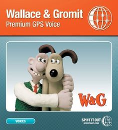 """Wallace & Gromit GPS Voice for Garmin (Mac only) [Download] by SpotItOut, LLC. $8.99. Let Wallace, the inventor, take you to your destination! Got your """"Gromit"""" Positioning System? You need the Wallace Voice! Straight from 62 West Wallaby Street comes the official GPS voice of Wallace. Let Wallace say, """"Well would you believe it, we have reached our destination, ha, ha, crack open the Caerphilly!"""" Spot It Out's range of premium branded voices are the genuine artic..."""