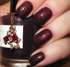 "The Phantom glitter nail polish 15 mL (.5 oz) from the ""Naughty Boys"" Collection"