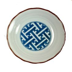 Blue and White Lattice Dish...perfect for jewelry or soap