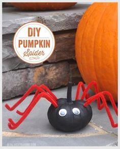 DIY Spider Pumpkin