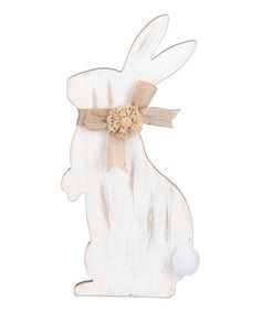 Another great find on #zulily! Burlap Floral Bow Bunny Silhouette #zulilyfinds