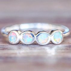 BACK IN STOCK || Multi Opal Ring || Available in our 'Mermaid' Collection || www.indieandharper.com