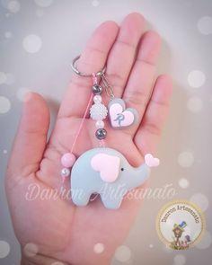 Sweet Elephant Favors - Her Crochet Elephant Party, Elephant Baby Showers, Baby Elephant, Felt Keyring, Clay Keychain, Baby Shower Themes, Baby Boy Shower, Baby Shower Decorations, Baby Decor